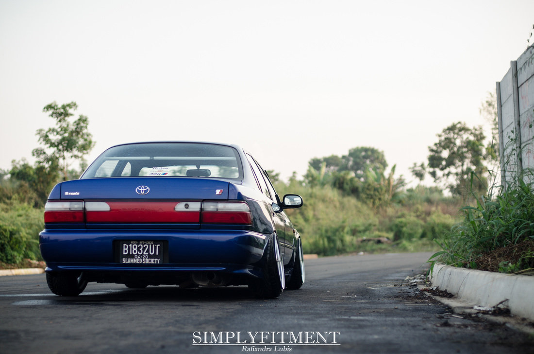 HENDRA'S DAILY STATIC TOYOTA COROLLA AE101 ON WORK MEISTER